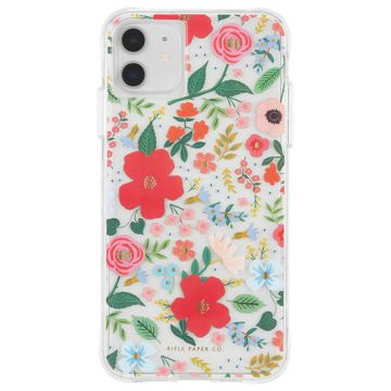 Coque IP11 Rifle Paper Allover Wild Rose