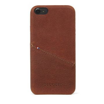 Coque en cuir porte cartes iPhone 6/7/8/SE2 Marron