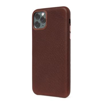 Coque en cuir iP 11 Pro Max Marron