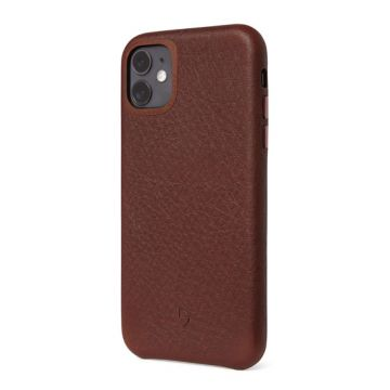 Coque en cuir iPhone 11 Marron