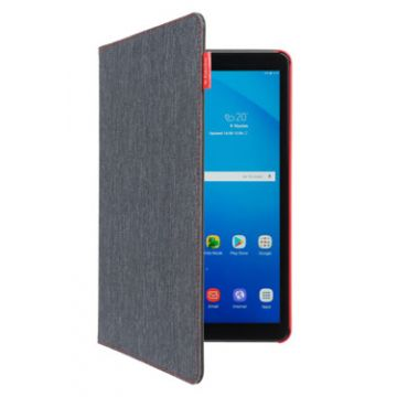 Easy Click Cover Galaxy Tab A Anthracite/Rouge
