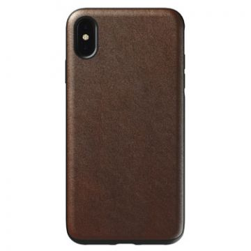 Case Leather Rugged iPhone XS Max Brown