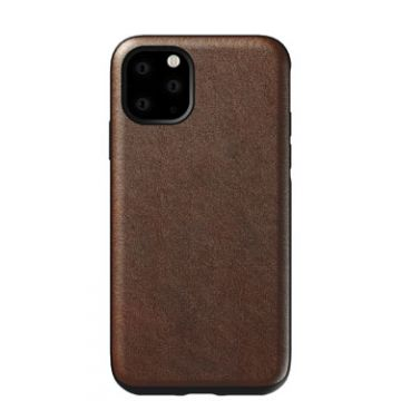Coque en cuir Rugged iPhone 11 Pro Max Marron