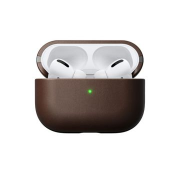 Coque en cuir Airpods Pro Marron
