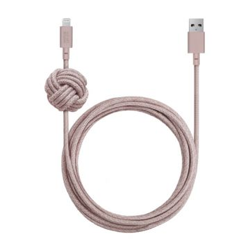Night Cable USB vers Lightning (3m) Rose