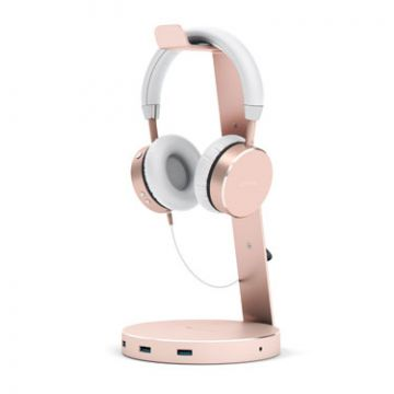 Aluminium USB 3.0 Headphone stand Rose Gold