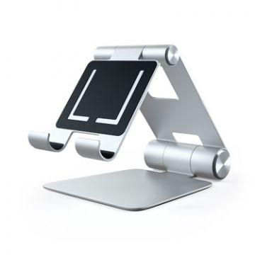 R1 Aluminium hinge holder foldable stand Silver